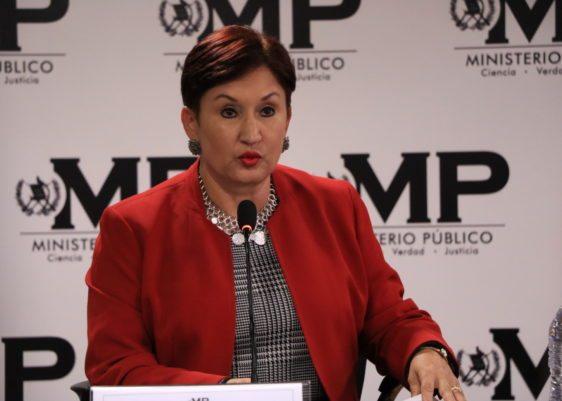 Thelma Esperanza Aldana , MP, fiscal general , conferencia de pensa,