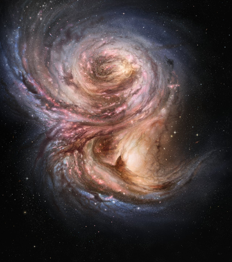 Star factories in the distant Universe (artist's impression)