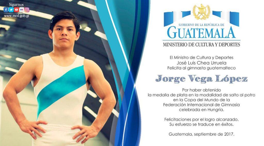 Jorge Vega medalla guatemala