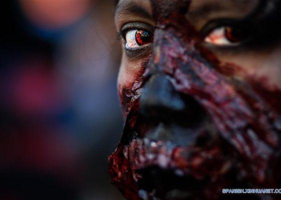 Zombie-México, Xinhua-Francisco Cañedo-marcha zombie-desfile-noviembre-2017-Montserrat López
