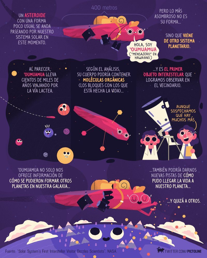 Oumuamua-asteroide-nasa-sistema solar-pictoline