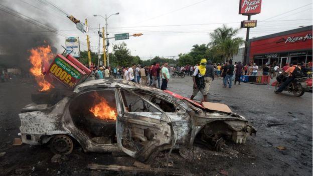 honduras-toque de queda-caos-elecciones-resultados