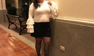 top, blusa, shorts, forever 21, zapatos, tacones, tights, plus size, moda, estilo, Aldo Nero, invierno, Navidad, looks, año nuevo.