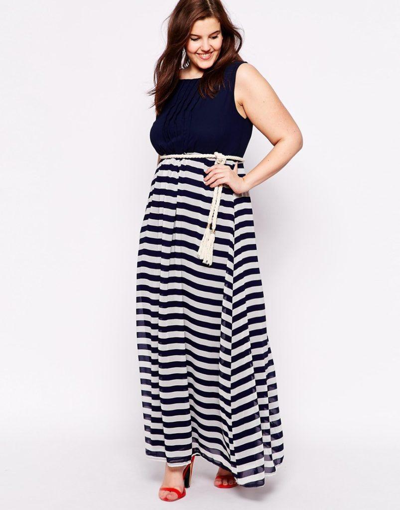 playa, piscina, vestido, maxi vestido, estampado, color block, azul, plus size, XL, verano, tallas grandes, moda