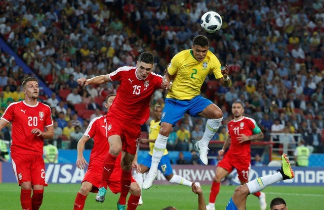 Brasil jugó contra Serbia y logró superarla 2-0