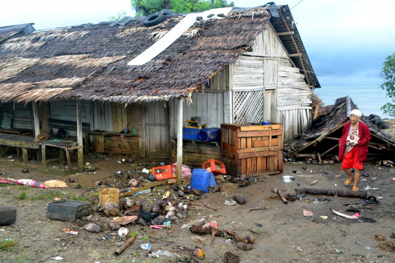 El concierto que fue arrasado por una ola — Tsunami en Indonesia