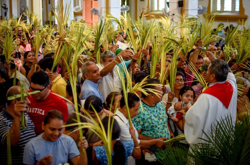 Católicos celebran hoy el Domingo de Ramos